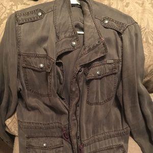 Grey military jacket